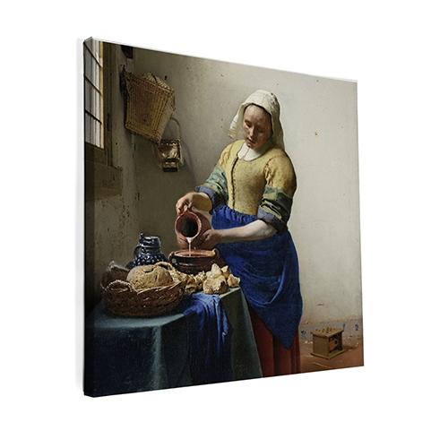 Canvas schilderij Het Melkmeisje