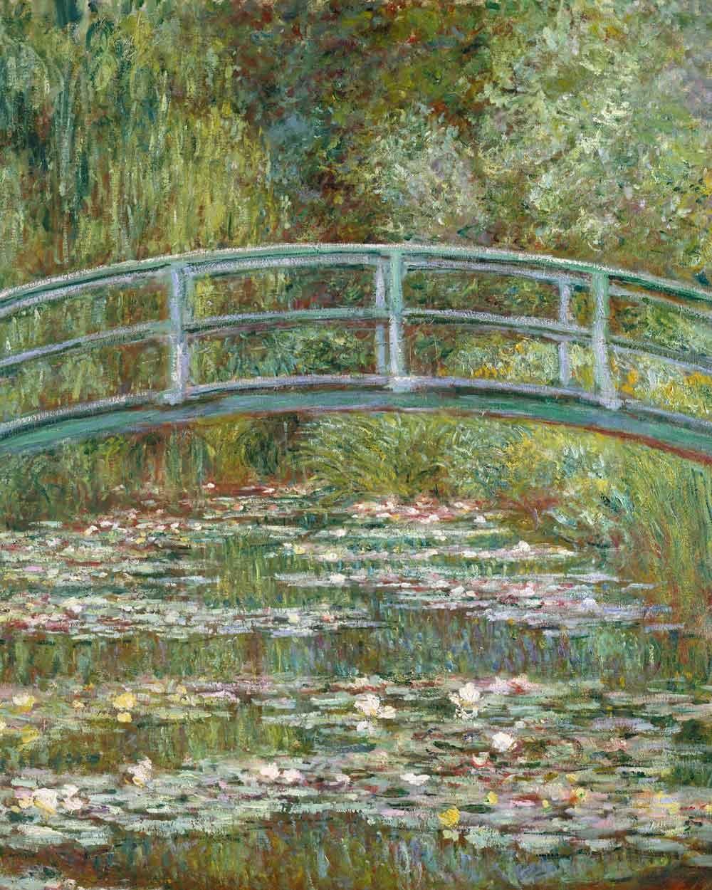 Canvas schilderij Waterlelievijver