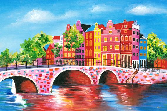 'Schilderij Amsterdam 2' van Kunst Company – 15×10 Poster