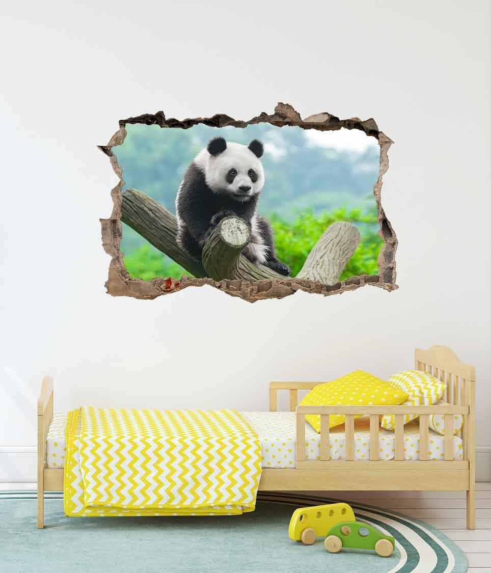 3D Muursticker Panda